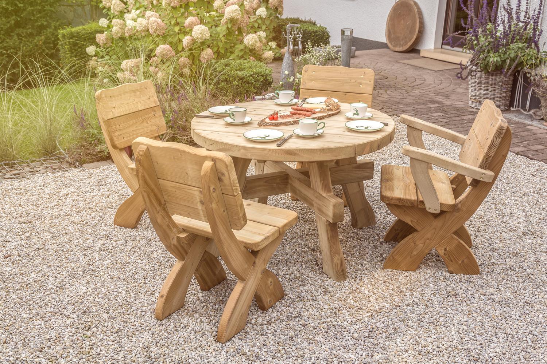 Gartenmöbel Und Zubehör Rustikal Eifel Tisch Rund