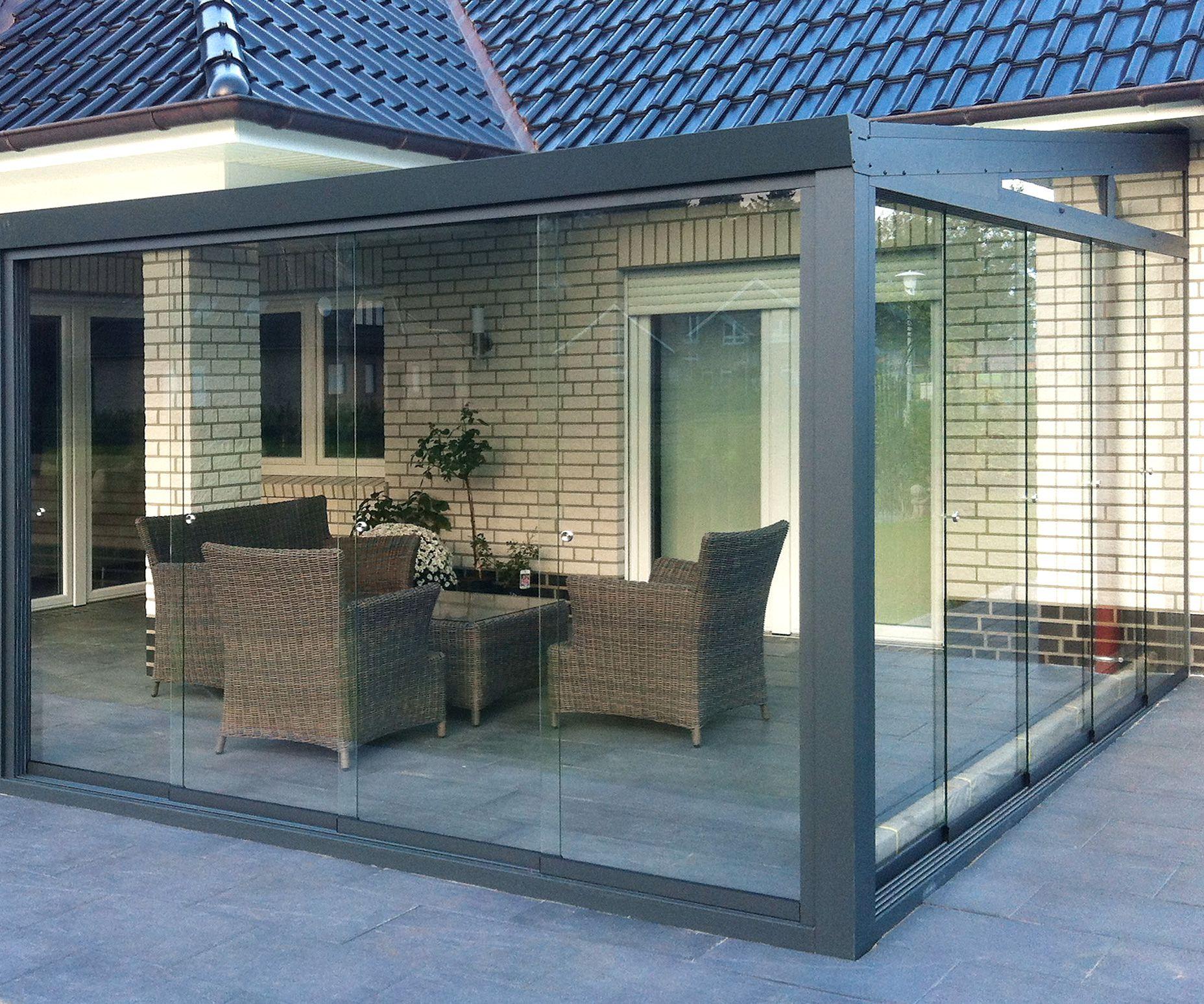 Wintergarten Aluminium Polycarbonat 2 5 M Tief Kaufen