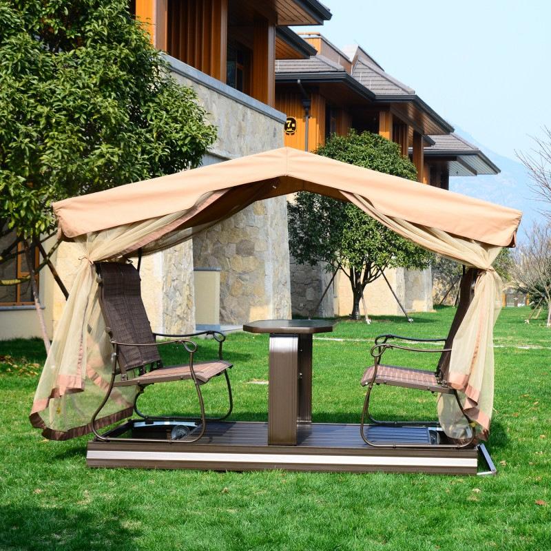 Hollywoodschaukel mit pavillon  Gartenmöbel und Zubehör aus Metall Schwingschaukel aus Aluminium kaufen