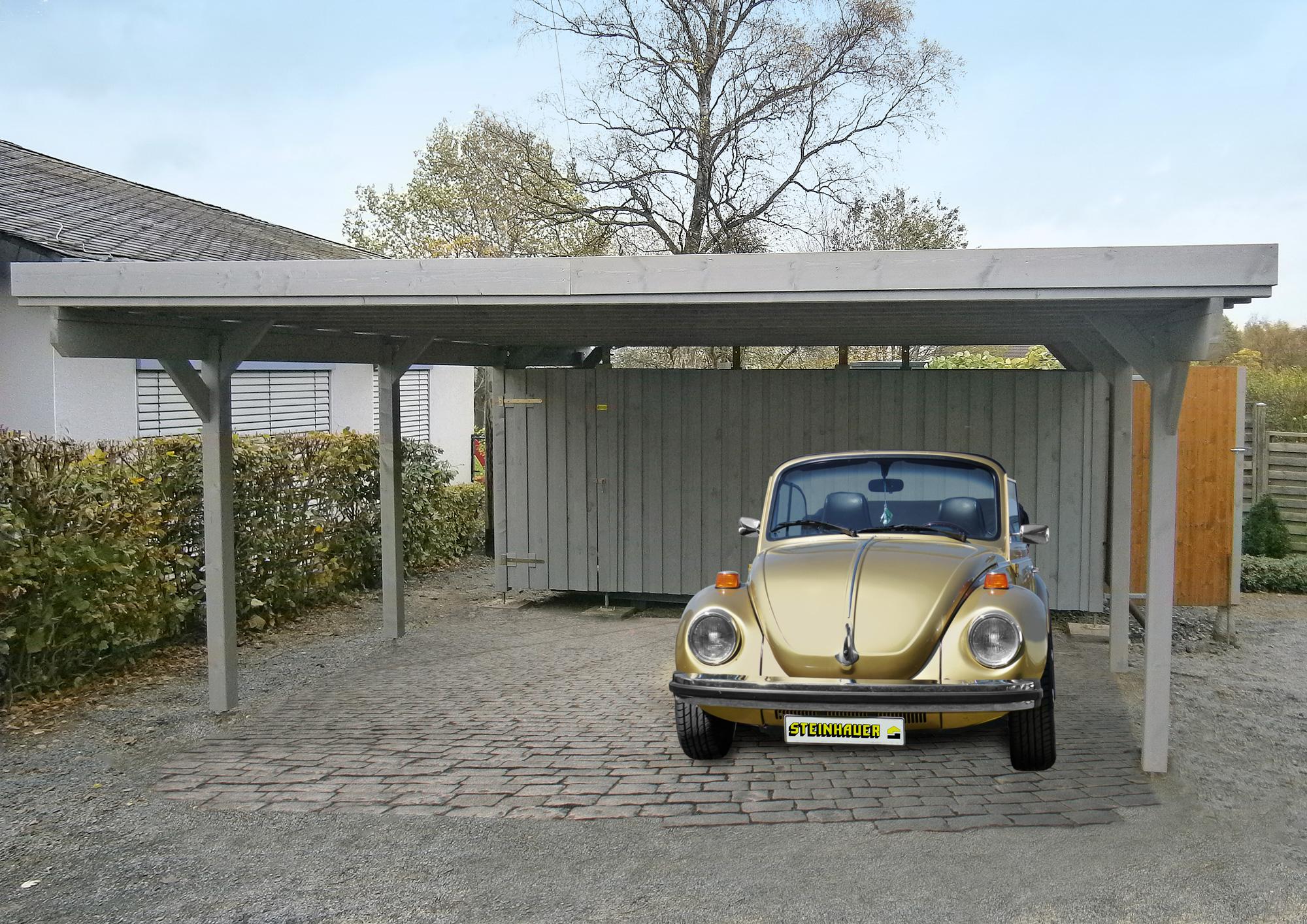 Carport und Garage aus Holz Usedom 1 kaufen