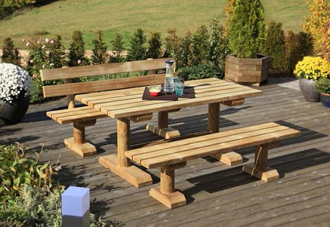 Gartenmöbel Massiv-Holz kaufen, hohe Qualität