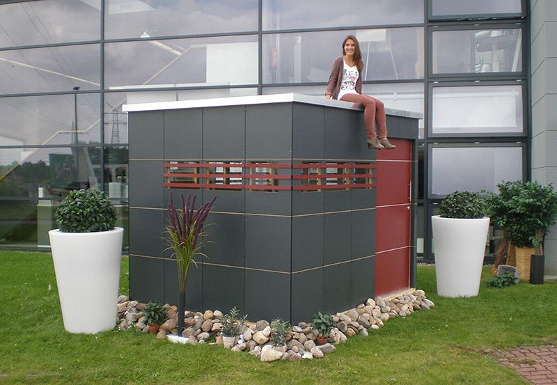 Gartenhaus und Gerätehaus Modernes Flachdach wartungsfrei Easy-Care ...