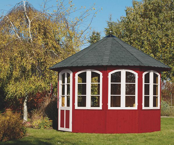 Extrem Gartenlaube Grilllaube und Pavillon aus Holz geschlossen QJ79
