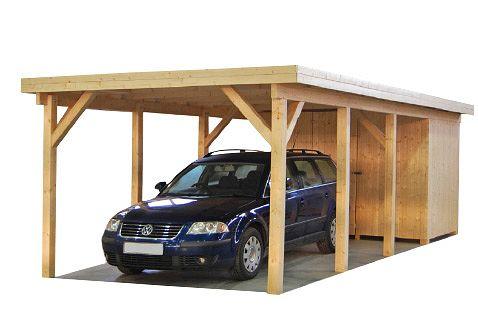 Carport und Garage aus Holz Max 2 Geräteraum kaufen